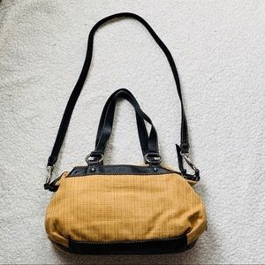 Fossil Bags - Fossil Vintage Woven/Black Leather Trim Satchel